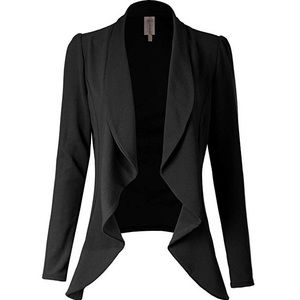 Jackets & Blazers - Open Cardigan Blazer Coat Jacket